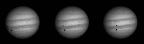Jupiter Io, Ganymede shadows - 160314 by Mick Hyde