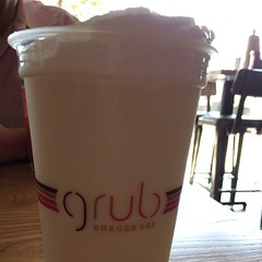 Mexican vanilla shake tastes like freedom. Because it was free. @grubburgerbar