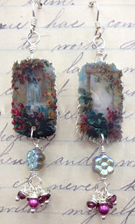 postcard earrings