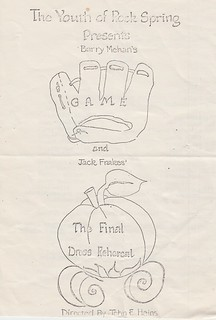 1982_Rock Spring Youth plays: Barry Mehan's Game and Jack Frakes' The Final Dress Rehearsal