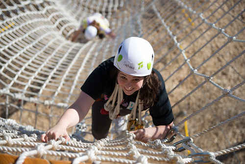 Try the team challenge course on campus