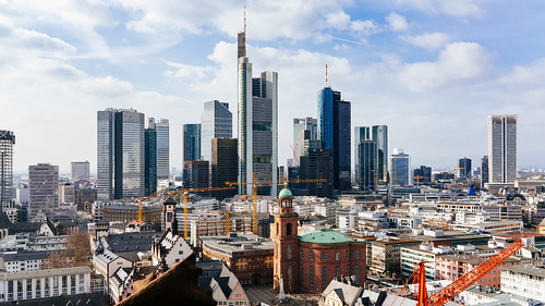Frankfurt Skyline | by wuestenigel
