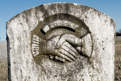 Hands together: farewell