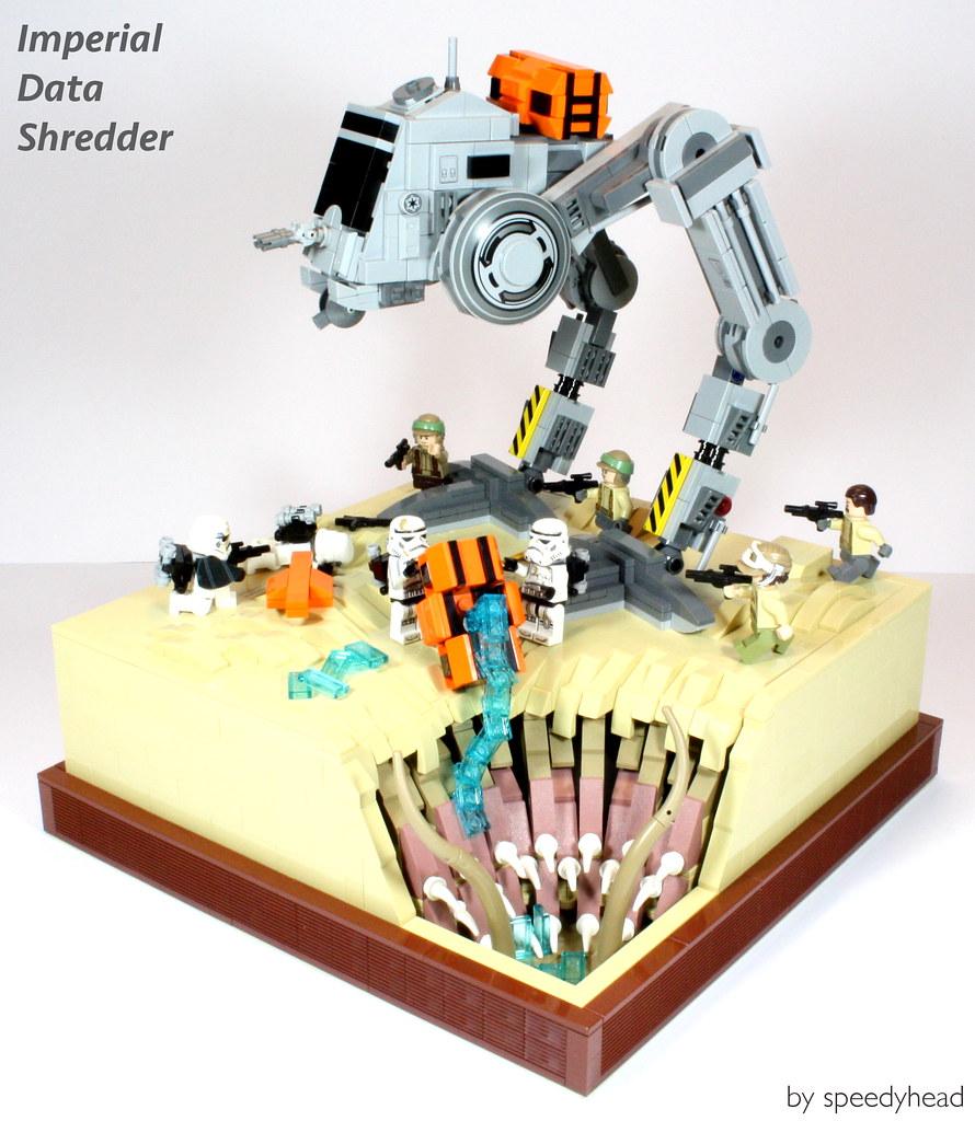 Imperial Data Shredder (custom built Lego model)