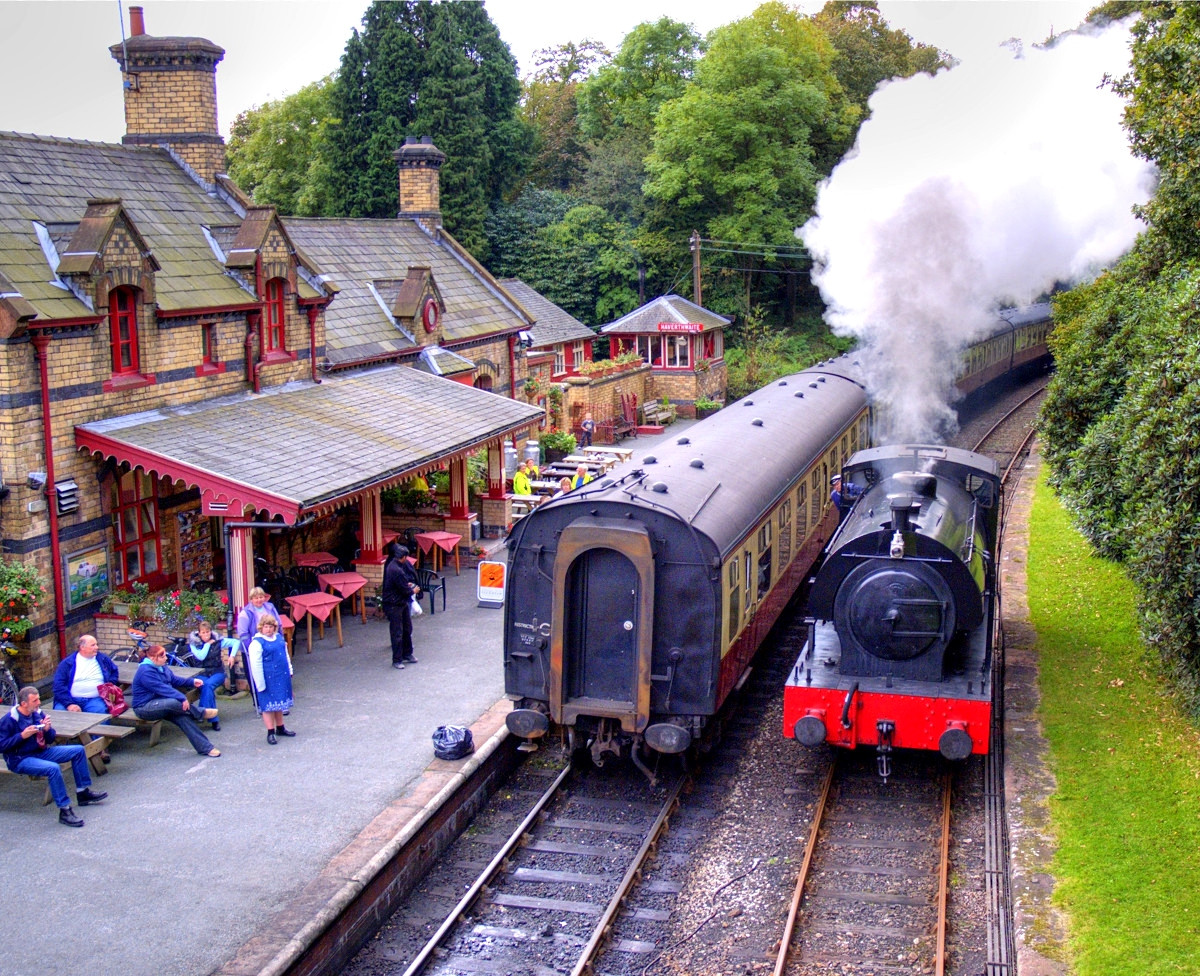 The Lakeside and Haverthwaite heritage Railway, Cumbria. Credit bayphotographic