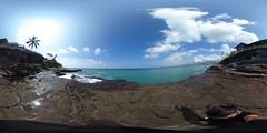 China Wall at Koko Kai Beach in Portlock in East Honolulu, Oahu, Hawaii - a 360° Equirectangular VR