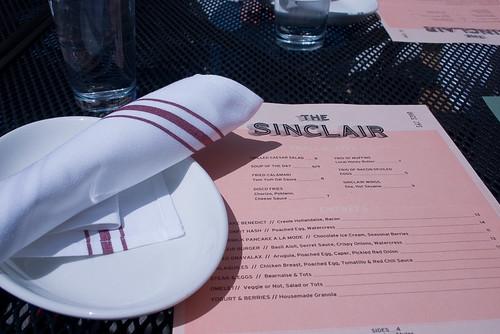 The Sinclair Menu