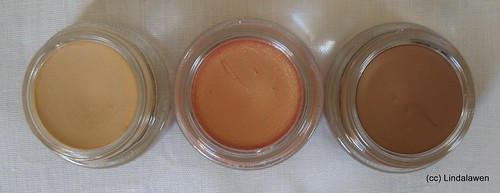 Paint pot MAC: Soft Ochre, Rubenesque y Groundwork