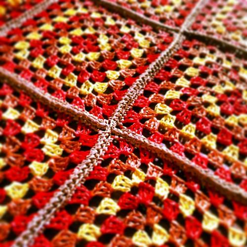 Raffia Granny Rug Detail