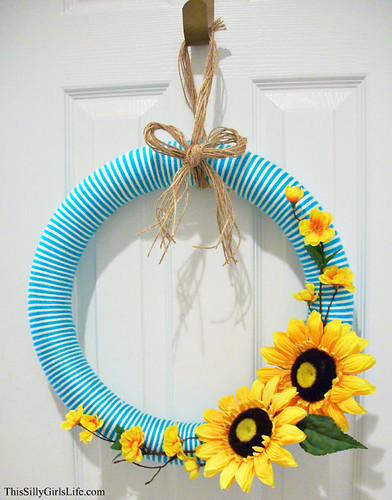 Summer Sunflower Wreath fromThis Silly Girl's Life.