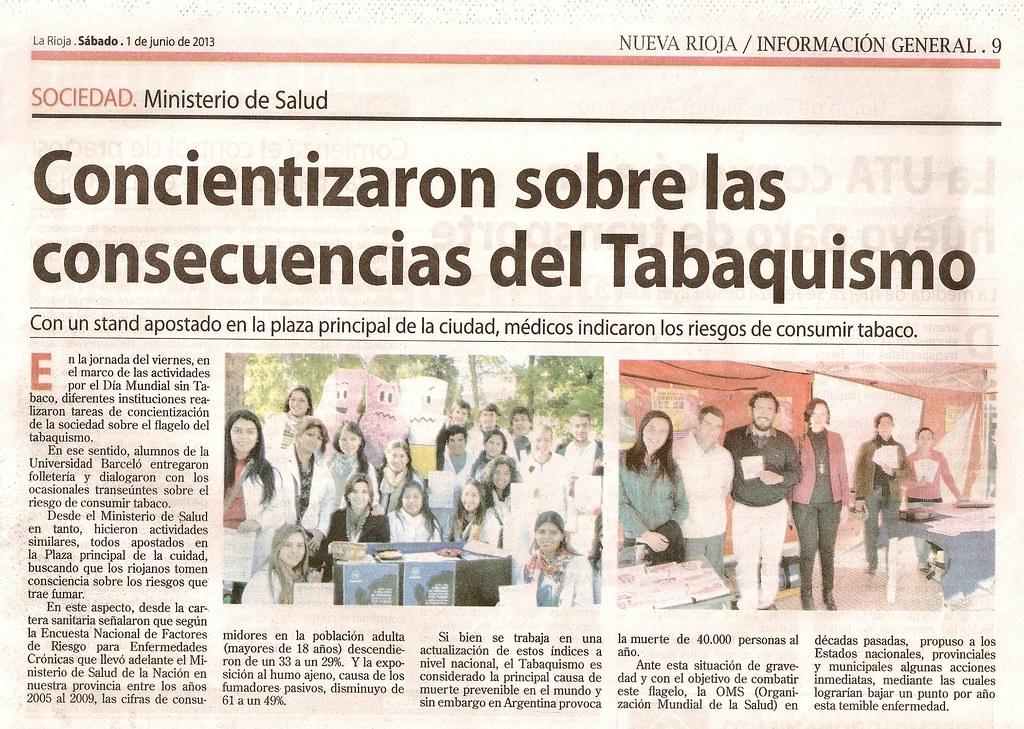 Campaña Día Mundial Sin Tabaco (2) - Nueva Rioja - 1.06.2013