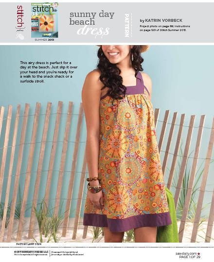 Schnitt für ein Strandkleid @frauvau.blogspot.de