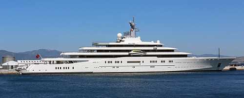 Superyacht M/Y Eclipse berthed at the North Mole, Port of Gibraltar