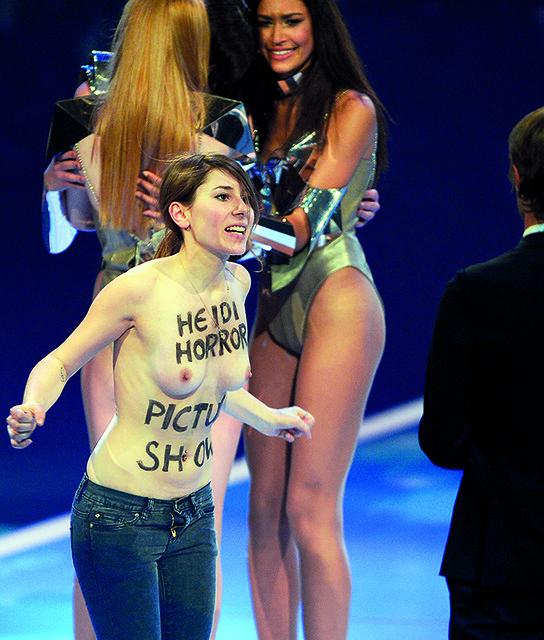 GERMANY-FASHION-TV-FEMEN