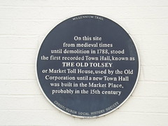Photo of The Old Tolsey blue plaque