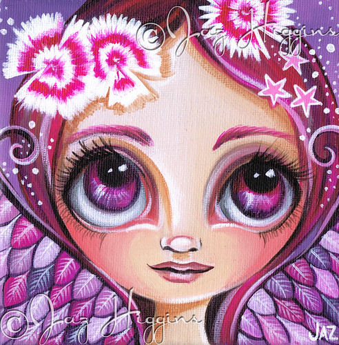 """Dianthus Fairy"" Mini Original Painting"
