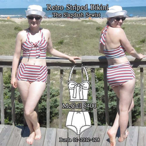 Retro Striped Bikini Thumbnail-1 (1)