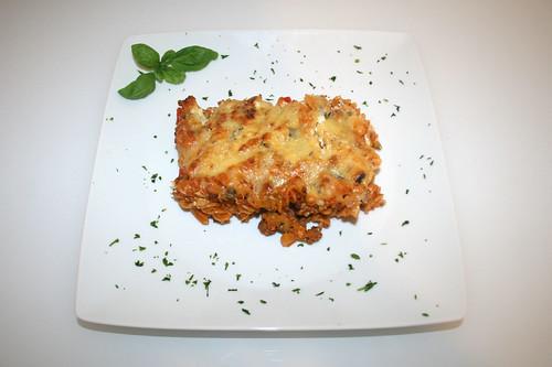 46 - Griechischer Nudelauflauf - Serviert / Pasta bake greek style - served