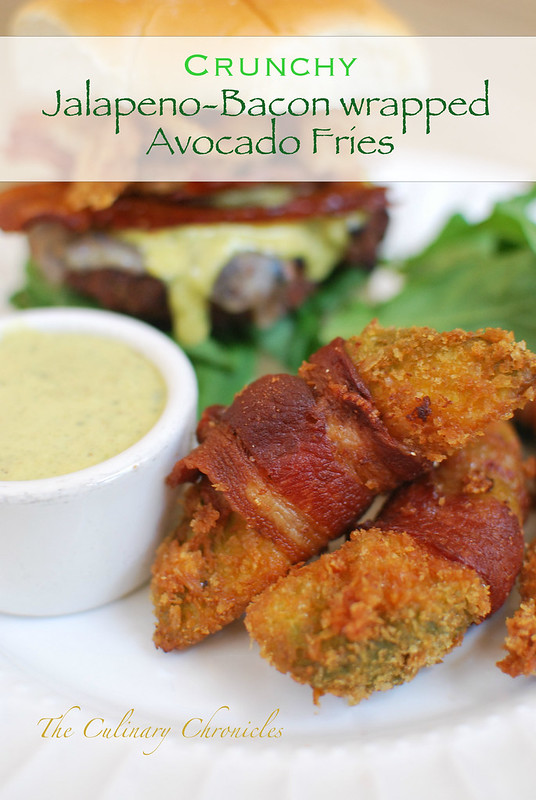 Crunchy Jalapeno-Bacon wrapped Avocado Fries