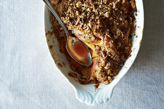 ... hot apple crumble and custard -- or summer without rhubarb crumble