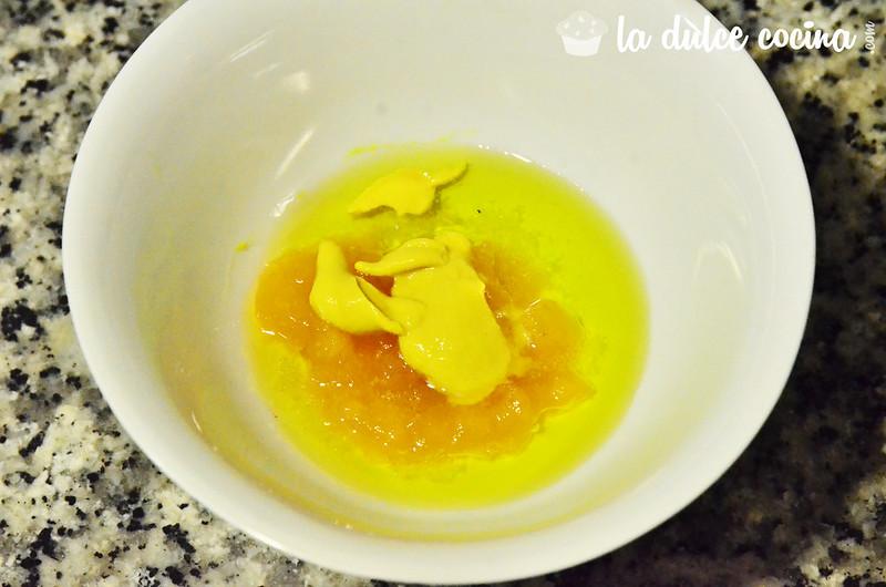 Comenzamos la salsa de mermelada y mostaza