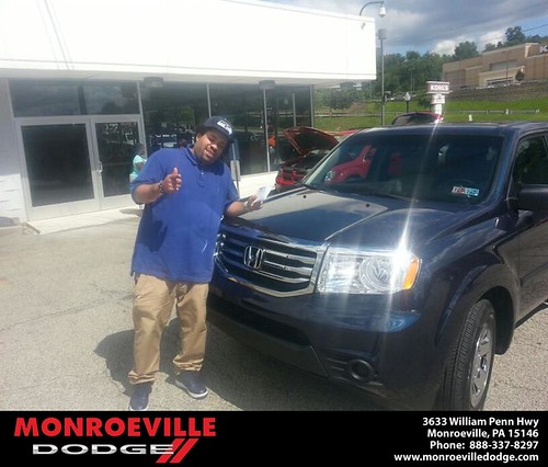 Thank you to Anthony Snyder on the Honda Pilot from Eldred Obadai and everyone at Monroeville Dodge! by Monroeville Dodge