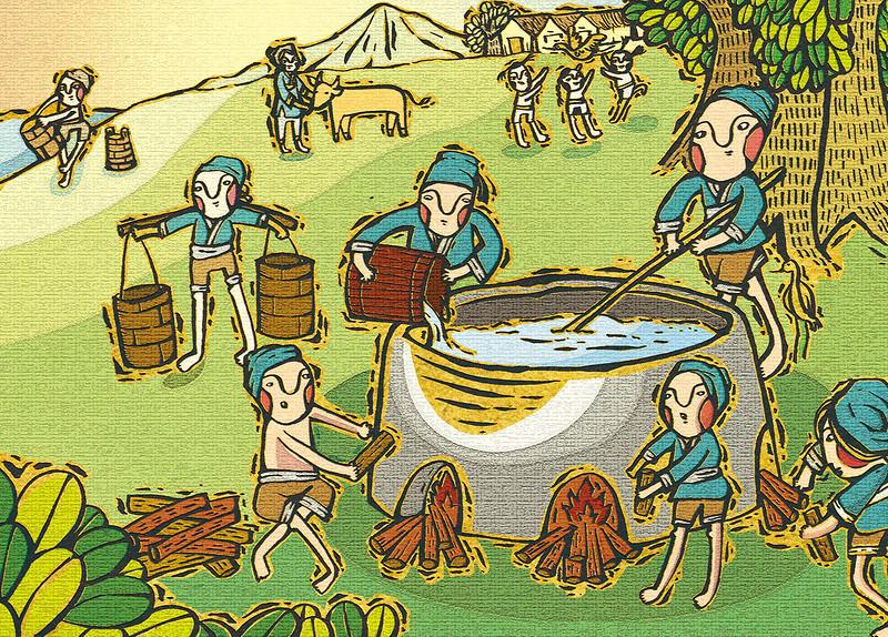 台灣鹽業發展至今已有數百年的歷史,據文獻記載平埔族是煮海水為鹽,到西元1648年之後,漢人開始從中國大陸進口磚瓦闢建鹽田。圖片來源:日光之物團隊