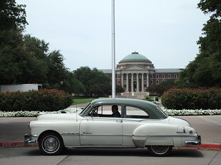 1951 Pontiac in front of SMU's Dallas Hall