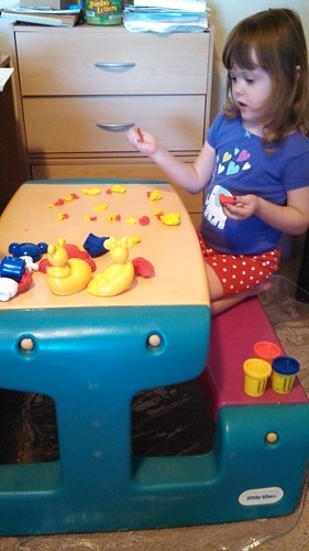 Lily's new mickey mouse playdough stuff
