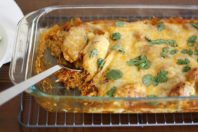 cilantro-lime chicken bake