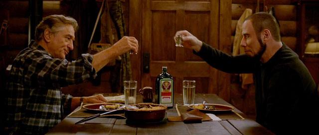 Killing-Season-De-Niro-Travolta-Cheers-Toast
