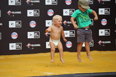 These young fans were a little excited about how good the barrels were at Padang.