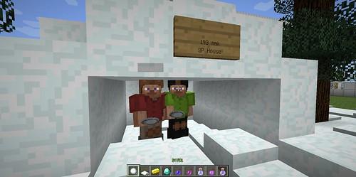 Minecraftでかまくら作り2013-03-30