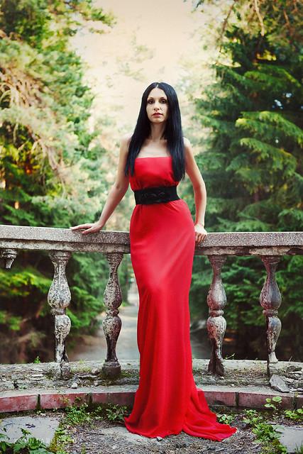 Фото в длинном платье идеи дома