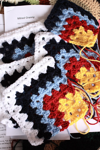 Mitred granny square by Helen in Wales