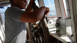 Capitão do barco desde Macapá até Monte Alegre, Brasil