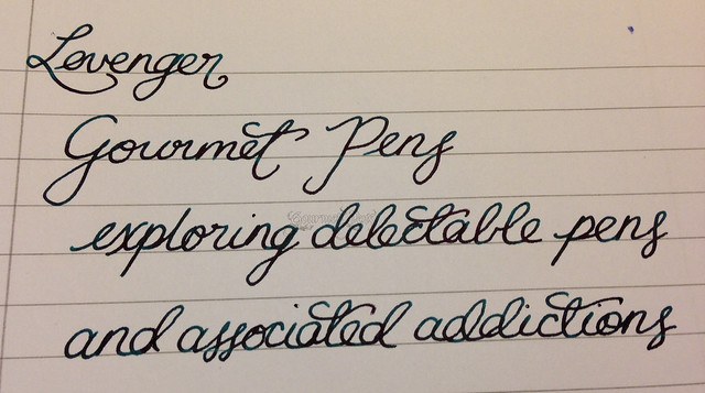 Levenger True Writer Silver Anniversary Fountain Pen Writing Sample