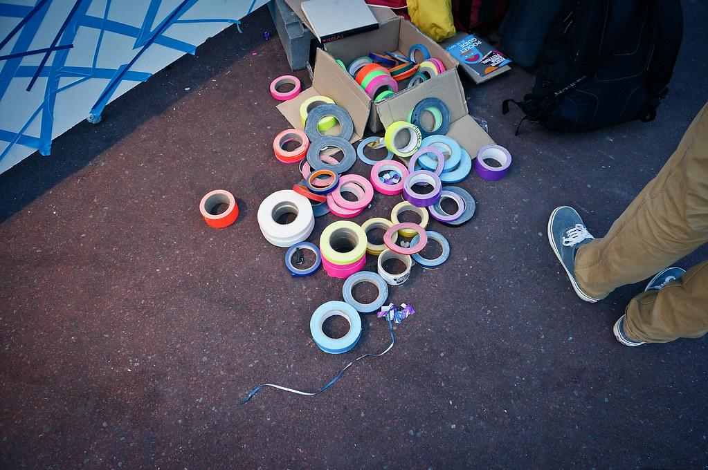 Reeperbahn Festival Spielbudenplatz Tape Art