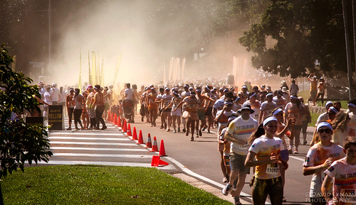 Color run, Townsville Australia.