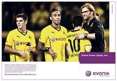 Evonik-Anzeige zum Champions League-Spiel von Borussia Dortmund gegen Arsenal London (groß)