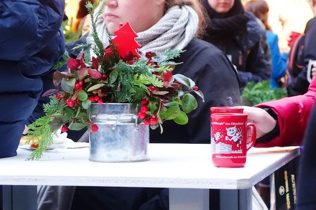 Dusseldorf Christmas market gluhwein