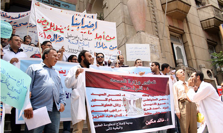 Egyptian Doctors at Syndicate of Doctors in Egypt. They are threatening to strike in January 2014. by Pan-African News Wire File Photos