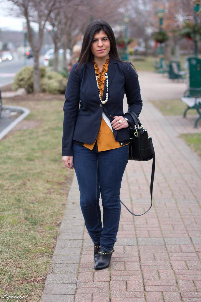 orange ruffled blouse, navy blazer-1.jpg