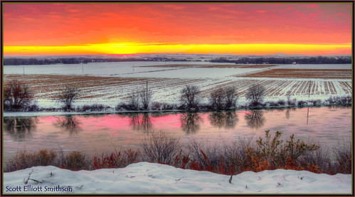 winter sunset snow reflection ice nature beauty oregon canon landscape eos wintersunset northwest idaho 7d snakeriver plains wildwest i84 fruitland riverscape snakeriverplain interstate84 hdrsunset treasurevalley oregonidaho eos7d idahooregon dtwpuck scottelliottsmithson