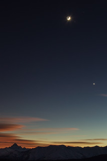 Monviso, Moon and Venus