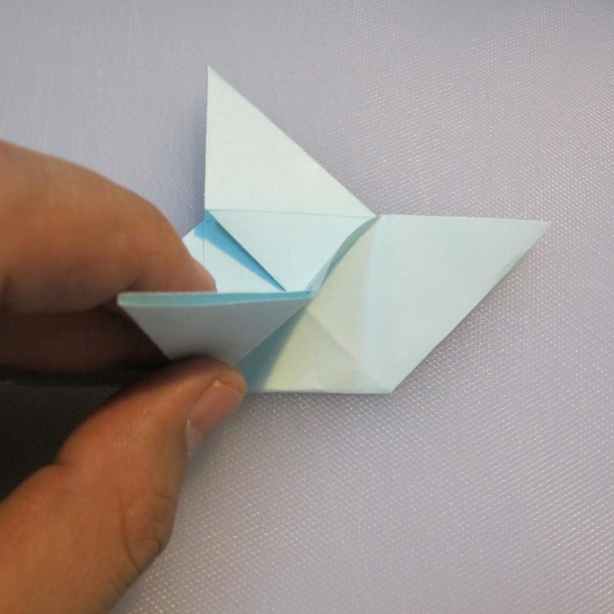 การพับกระดาษรูปดาวกระจาย (Star Origami – スターの折り紙) 015