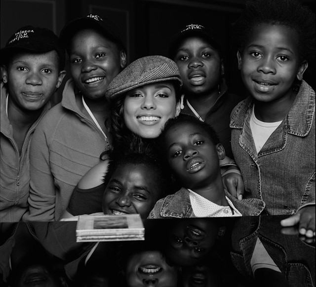 Alicia Keys and the children of Africa
