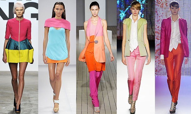 catwalk, something fashion style guide, trends 2014 I don't care, style tips, colorblock trend