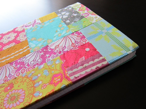 improv pieced covered journal