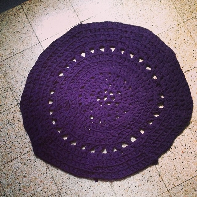 Il tappeto esperimenti all'uncinetto #instacrochet #lavoroamaglia #iolavoroamaglia #uncinetto #crochet #fattoamano #handmade